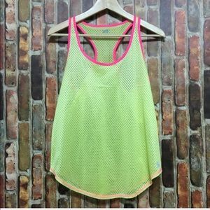 SOFFE neon mesh racer back tank top size M. NWOT